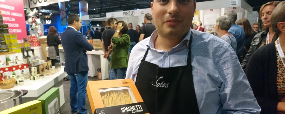 Italiaanse delicatessen beurs